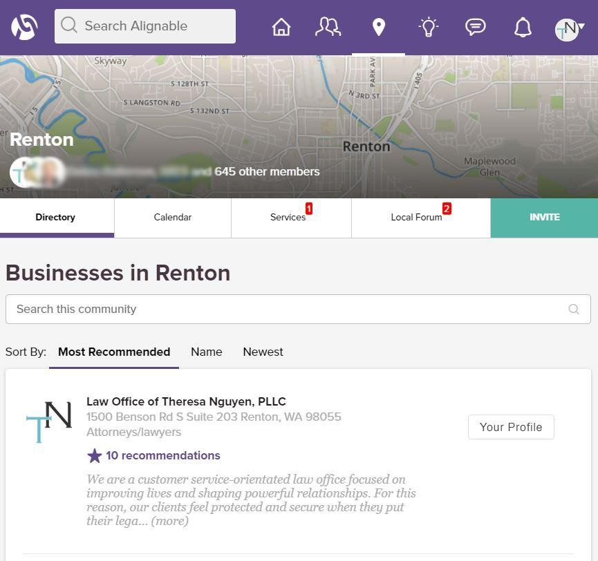 Most Recommended Business In Renton, WA on Alignable